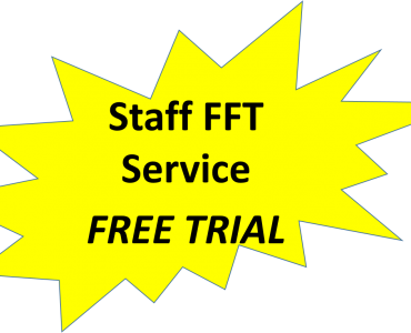 Staff FFT questions answered on  a mobile phone